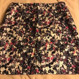 Talbots Floral pencil Skirt NWOT Sz. 20 Black/Pink